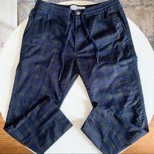 Cotton On Drake Roller Pant Plaid Waist 34